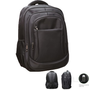 BF7279/BK Travel Laptop Backpack, with USB Charging Port