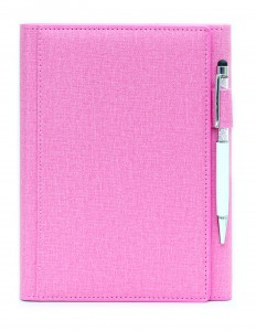 ST1300/ PEN- PINK Trifold Notebook